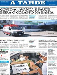 Capa do jornal A Tarde 05/03/2021