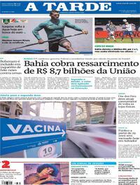 Capa do jornal A Tarde 05/08/2021