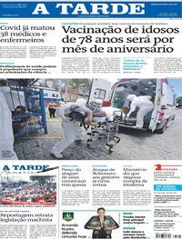 Capa do jornal A Tarde 06/03/2021