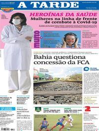 Capa do jornal A Tarde 07/03/2021