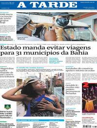 Capa do jornal A Tarde 07/05/2021