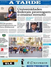 Capa do jornal A Tarde 07/06/2021