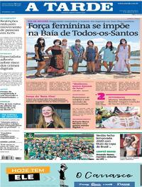 Capa do jornal A Tarde 08/03/2021