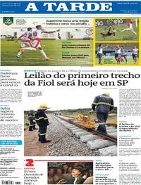 Capa do jornal A Tarde 08/04/2021