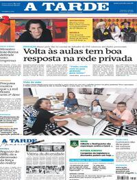 Capa do jornal A Tarde 08/05/2021