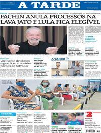 Capa do jornal A Tarde 09/03/2021