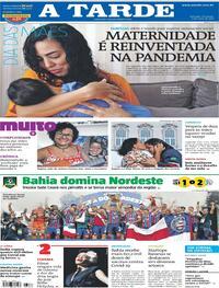 Capa do jornal A Tarde 09/05/2021