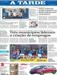 Capa do jornal A Tarde 09/06/2021