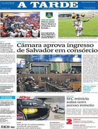 Capa do jornal A Tarde 10/03/2021