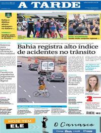 Capa do jornal A Tarde 10/05/2021