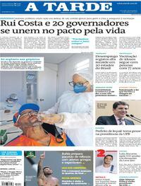 Capa do jornal A Tarde 11/03/2021