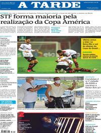 Capa do jornal A Tarde 11/06/2021