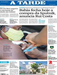 Capa do jornal A Tarde 12/03/2021