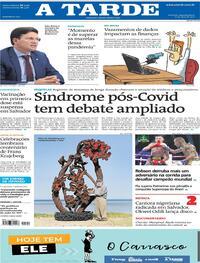 Capa do jornal A Tarde 12/04/2021