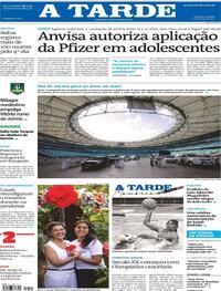 Capa do jornal A Tarde 12/06/2021