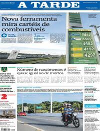 Capa do jornal A Tarde 13/04/2021