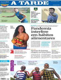 Capa do jornal A Tarde 13/06/2021