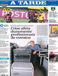 Capa do jornal A Tarde 14/03/2021