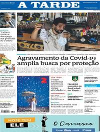 Capa do jornal A Tarde 15/03/2021