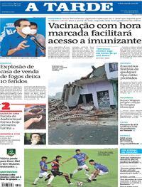 Capa do jornal A Tarde 15/04/2021