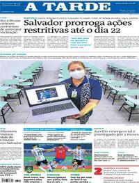 Capa do jornal A Tarde 15/06/2021