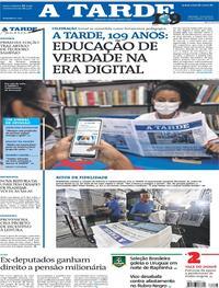 Capa do jornal A Tarde 15/10/2021