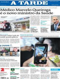 Capa do jornal A Tarde 16/03/2021
