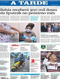 Capa do jornal A Tarde 16/06/2021