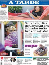 Capa do jornal A Tarde 17/01/2021