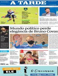 Capa do jornal A Tarde 17/05/2021