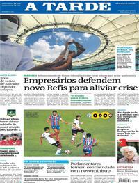 Capa do jornal A Tarde 18/03/2021