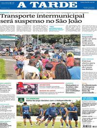 Capa do jornal A Tarde 18/05/2021