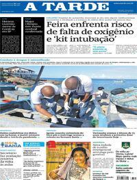 Capa do jornal A Tarde 19/03/2021