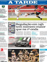 Capa do jornal A Tarde 19/05/2021