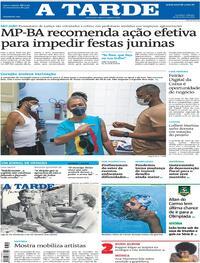 Capa do jornal A Tarde 19/06/2021
