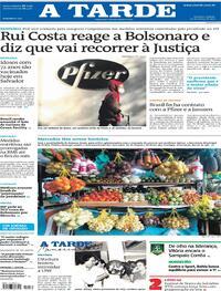 Capa do jornal A Tarde 20/03/2021