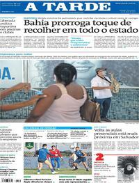 Capa do jornal A Tarde 20/04/2021