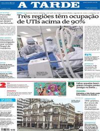 Capa do jornal A Tarde 20/05/2021