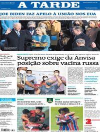 Capa do jornal A Tarde 21/01/2021