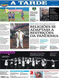 Capa do jornal A Tarde 21/03/2021