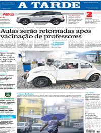 Capa do jornal A Tarde 21/04/2021