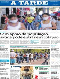 Capa do jornal A Tarde 22/05/2021