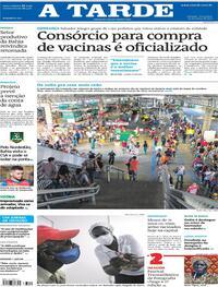 Capa do jornal A Tarde 23/03/2021