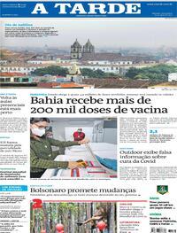 Capa do jornal A Tarde 23/04/2021