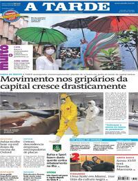 Capa do jornal A Tarde 24/01/2021