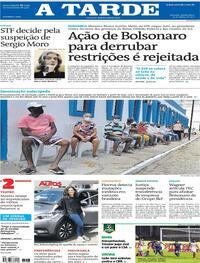 Capa do jornal A Tarde 24/03/2021