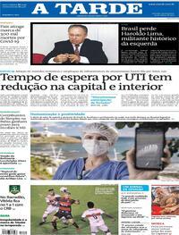 Capa do jornal A Tarde 25/03/2021