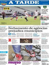Capa do jornal A Tarde 25/04/2021