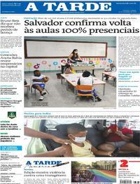 Capa do jornal A Tarde 25/09/2021