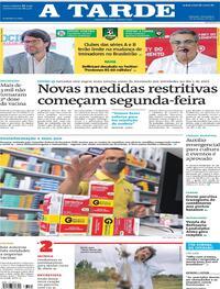 Capa do jornal A Tarde 26/03/2021